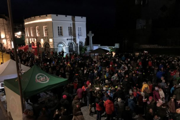 Christmas Lights Switch On in Castletown